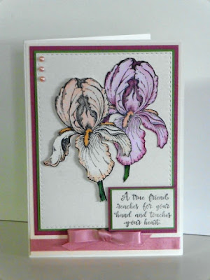 ODBD A True Friend, ODBD Custom Double Stitched Rectangles Dies, ODBD Customer Card of the Day by Amanda aka abbadesign