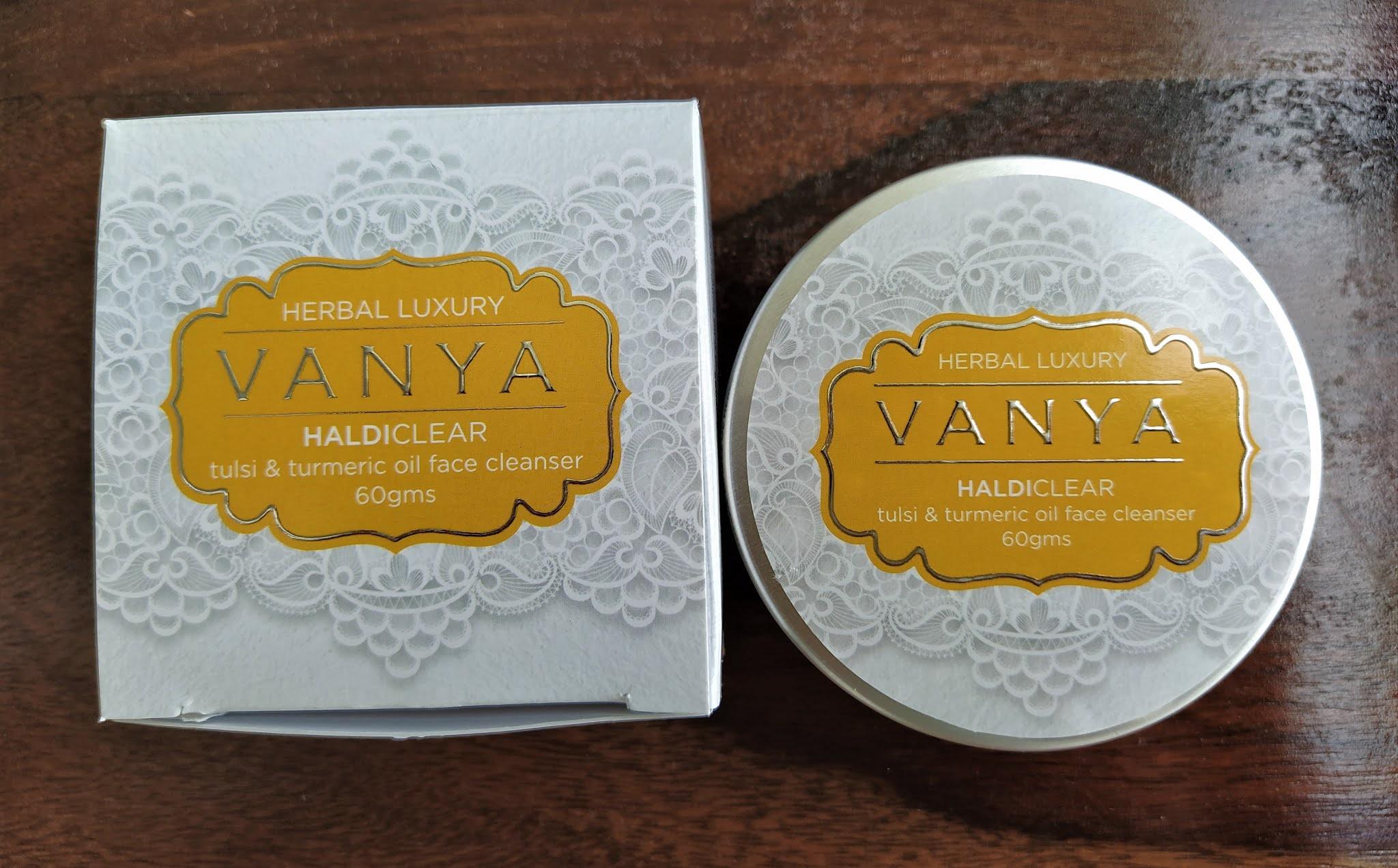 Vanya herbals pomegrante products skincare range tulsi and haldi
