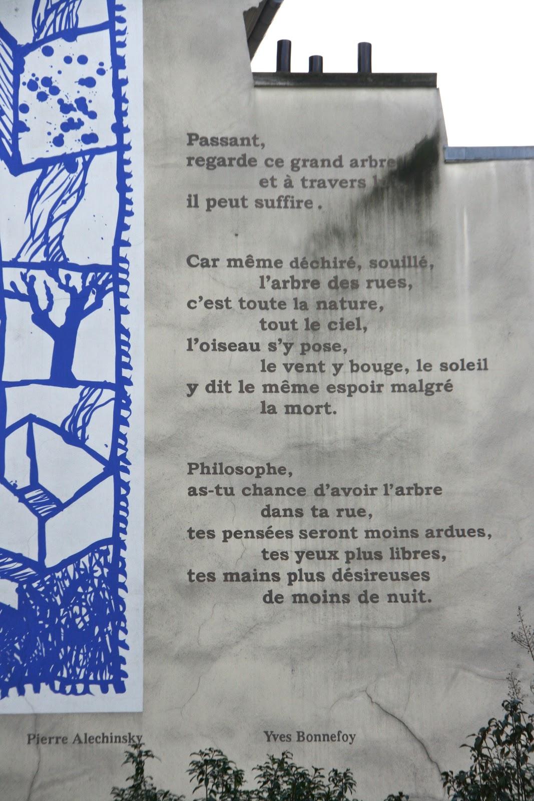Paris Through My Lens Un Poème Sur Le Mur