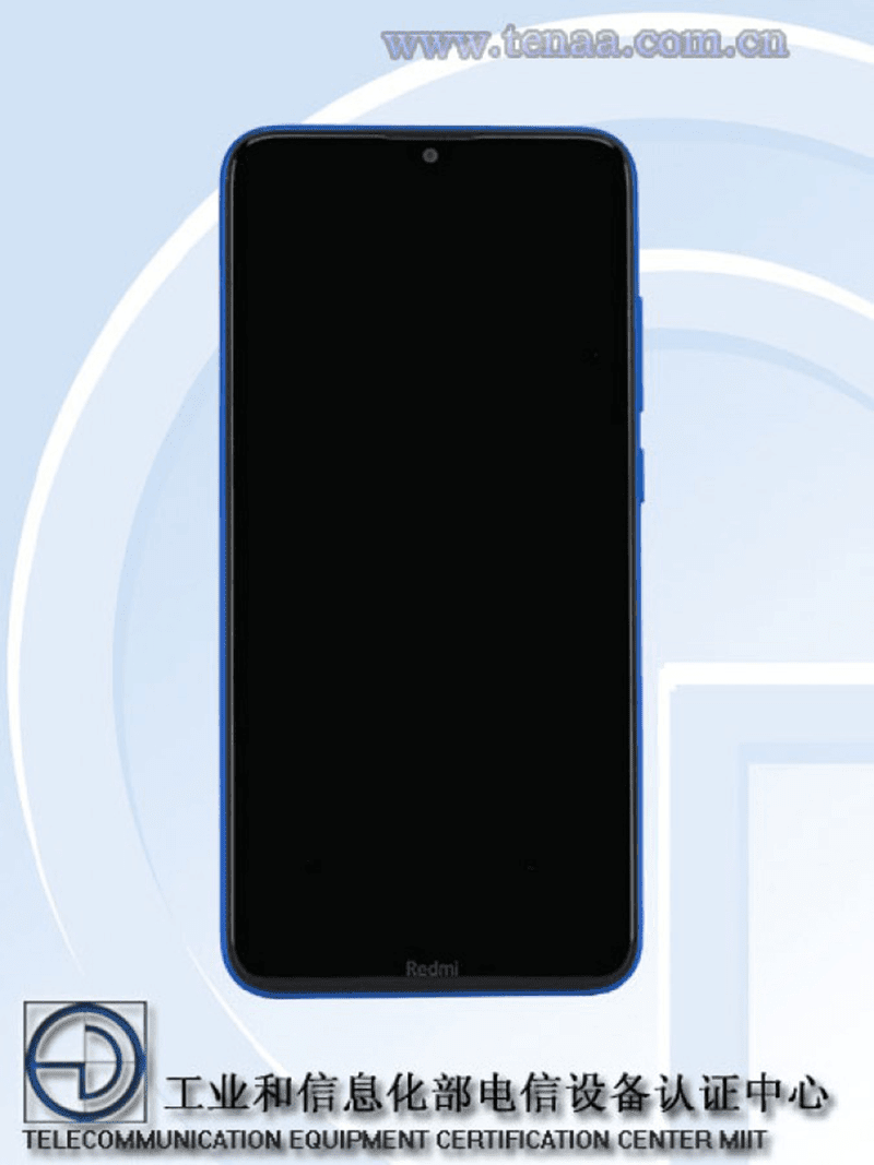 Front view of the Redmi 8A