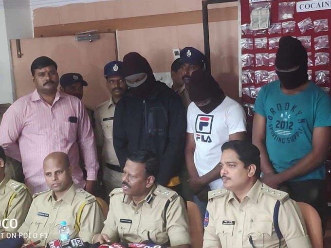 Two Nigerian drug peddlers arrested in India, 254 grams of cocaine seized from their possession