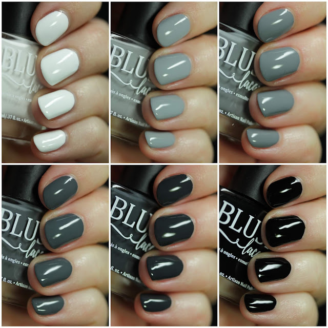 BLUSH Lacquers Film Noir Collection swatches by Streets Ahead Style