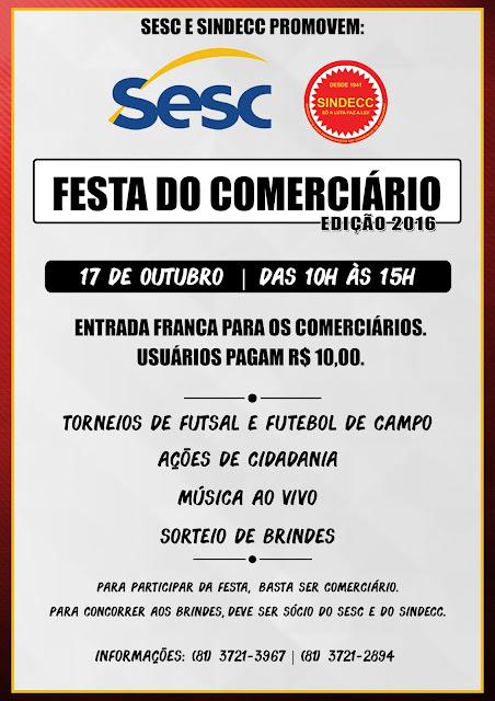 FESTA DO COMERCIÁRIO - EDIÇÃO 2016