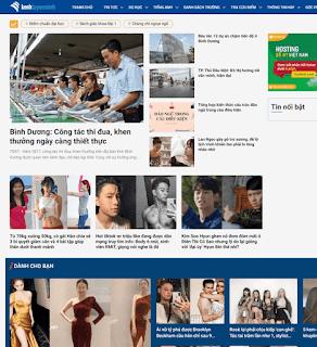 Giao diện Web Tin tức Báo chí giao diện đẹp, tải nhanh - Theme Blogspot - Blogspotdep.com
