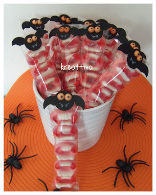 pipistrelli porta caramelle halloween