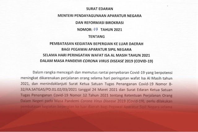 Peringatan Isa Almasih, ASN Dilarang Melakukan Perjalanan ke Luar Daerah