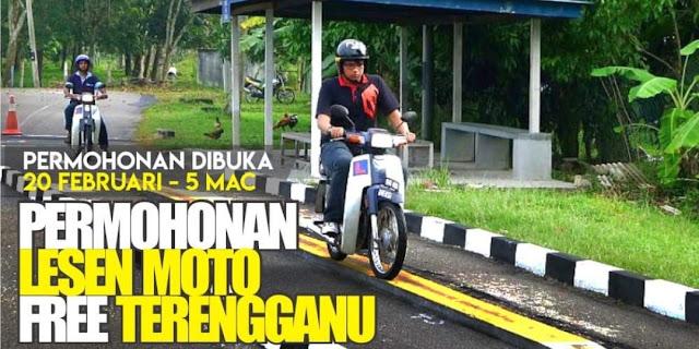 Permohonan Lesen Motosikal Percuma Terengganu Sejahtera 2022 Online (LMTS)