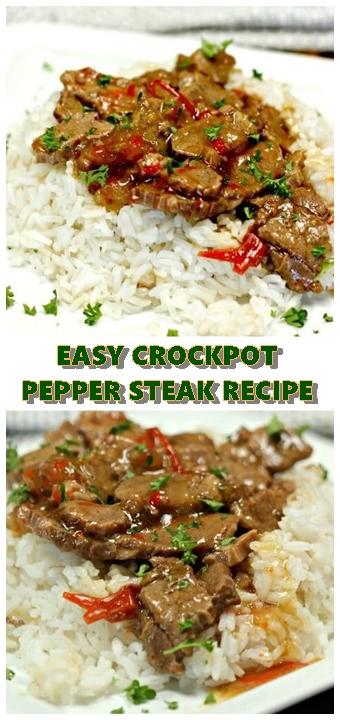 #EASY #CROCKPOT #PEPPER #STEAK #RECIPE #chickenrecipes #recipes #dinnerrecipes #easydinnerrecipes