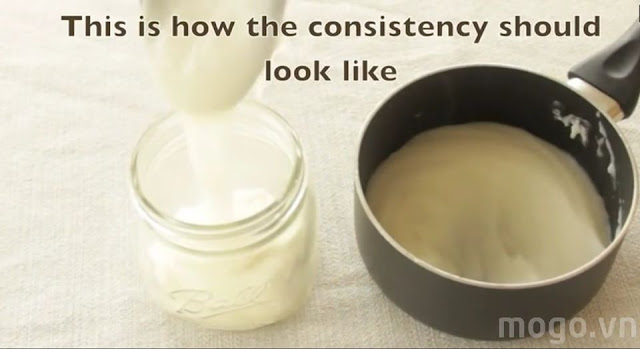 Tóc thẳng như duỗi với hỗn hợp tự nhiên có ngay trong nhà bếp
