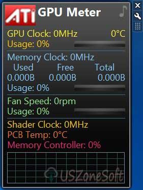 GPU Meter Gadget Free Download For Windows 10, 8, 7 OS 32bit/ 64bit