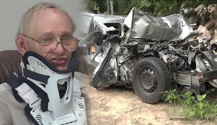 Hombre sobrevive a accidente vehicular