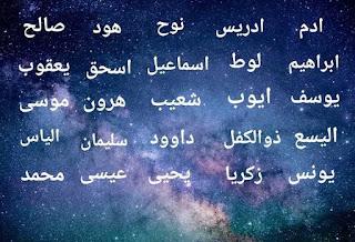 25 nama-nama nabi dan Rasul yang wajib kita ketahui