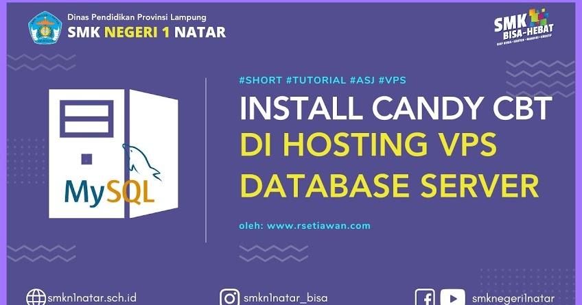 Install database server Candy CBT di Hosting VPS