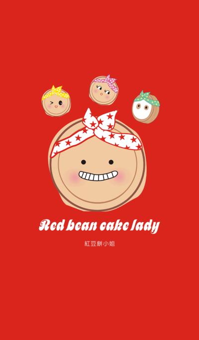 Red bean cake lady