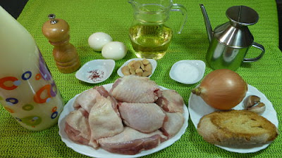 Pollo en pepitoria. Ingredientes