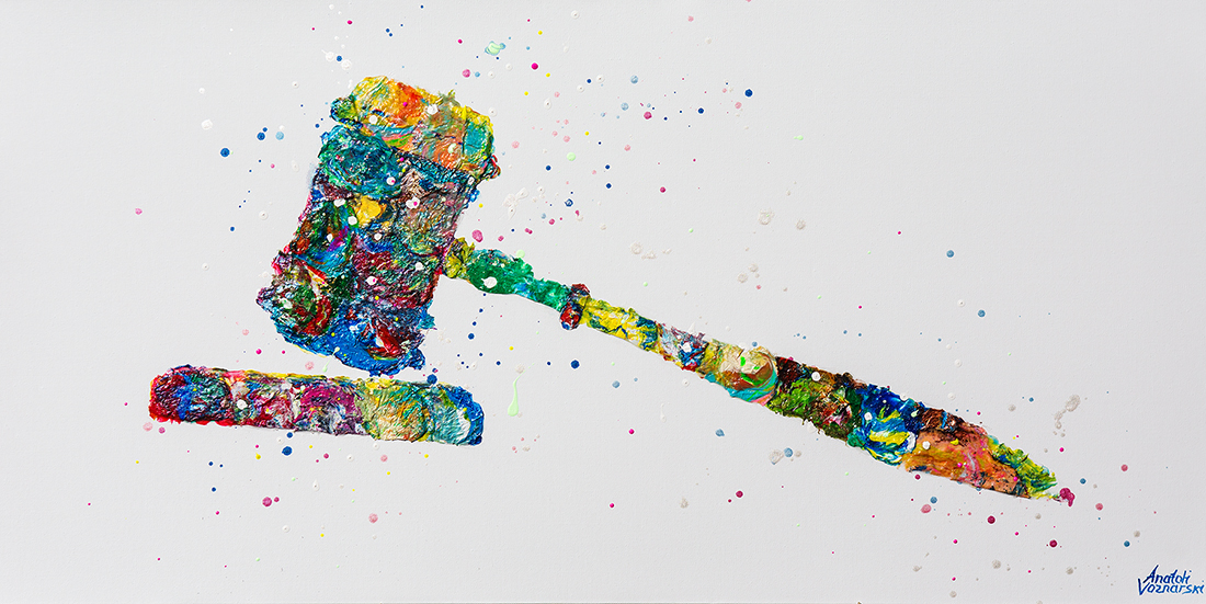 Judge Hammer painting,abstract painting, Judge Hammer office,  unique Judge Hammer,Judge Hammer  dot,Judge Hammer voznarski,Judge Hammer colorful ,Judge Hammer acrylic, office painting