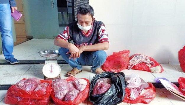 Ternyata Ini Tampang Penjual Daging Sapi Dioplos Babi di Tangerang, Mengaku Baru 2 Bulan Beraksi