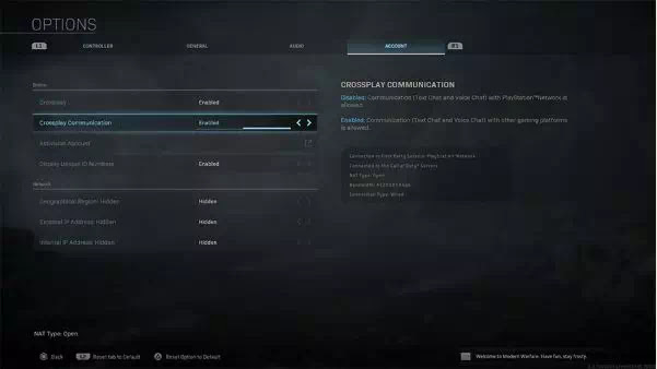 Cara Nonaktifkan Crossplay Di Call Of Duty Modern Warfare-1