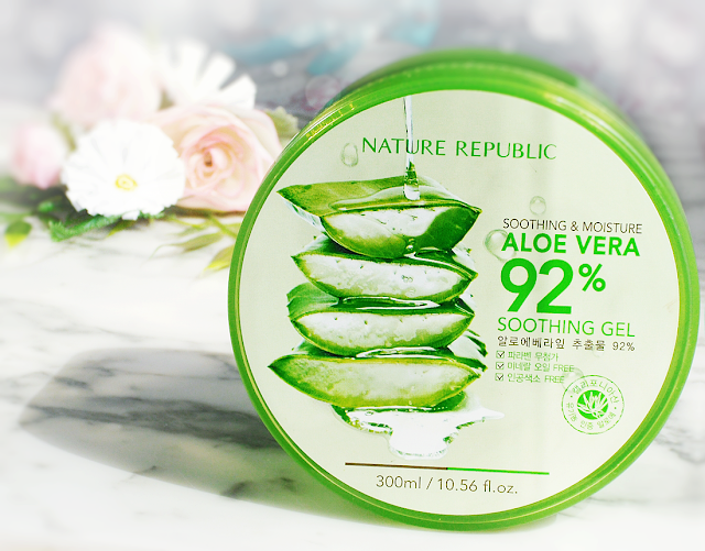 Nature Republic Aloe Vera 92% Soothing Gel - review - 10 ways to use aloe vera gel