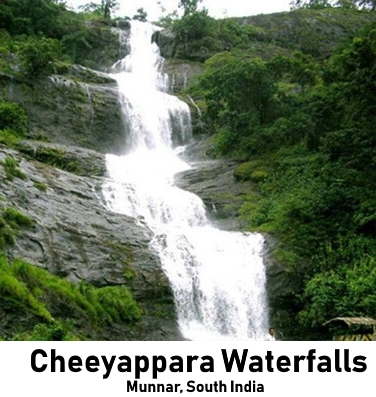 Munnar Attractions : Cheeyappara Waterfalls Munnar