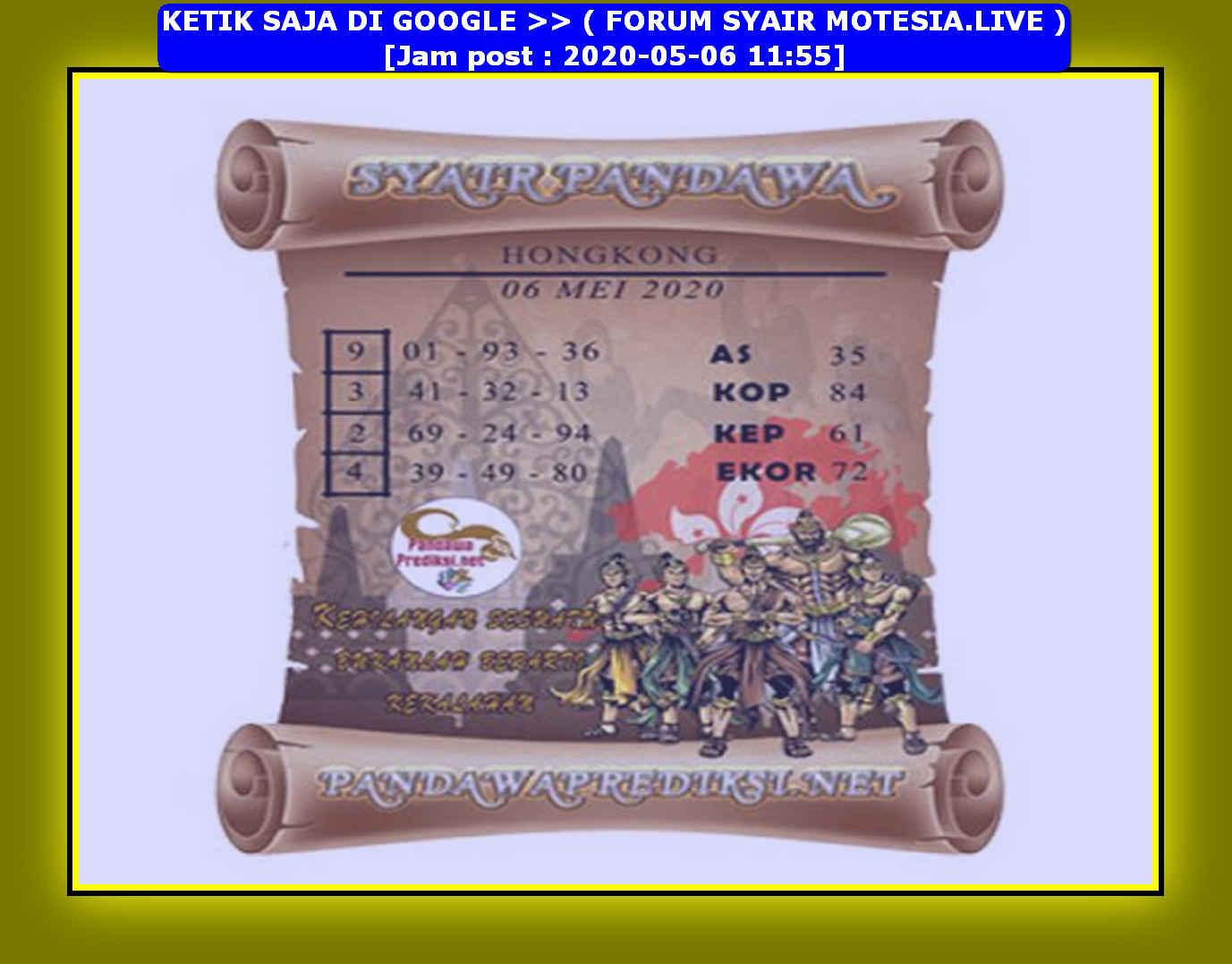 Kode syair Hongkong Rabu 6 Mei 2020 210