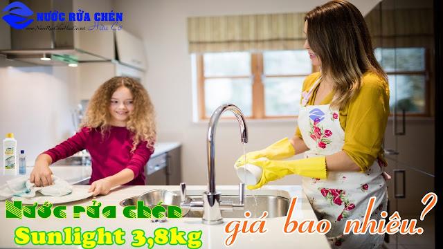 Nước rửa chén sunlight 3.8 kg có giá bao nhiêu?