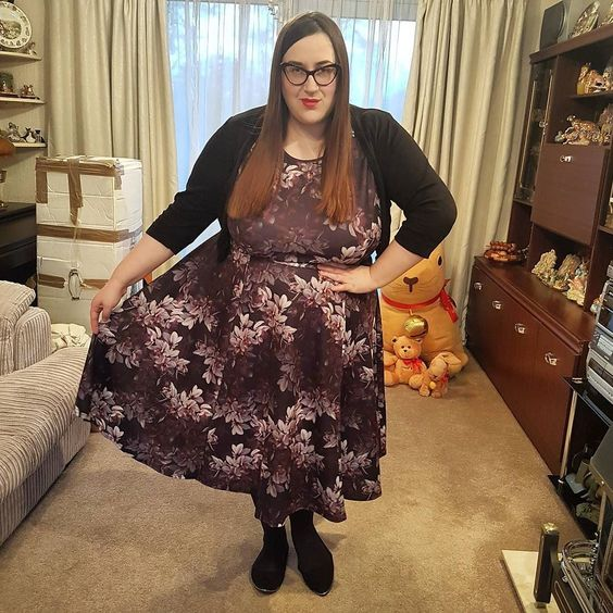 Lady V London Hypnotic Obsession Hepburn plus size dress