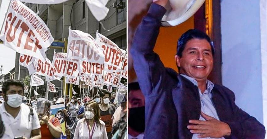 SUTEP considera que presidente Castillo buscaría crear un nuevo gremio de maestros que sea afín al Gobierno