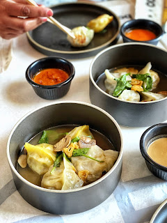 Steamed Shitake and Vegetable dumplings at Bao, Kuwait City