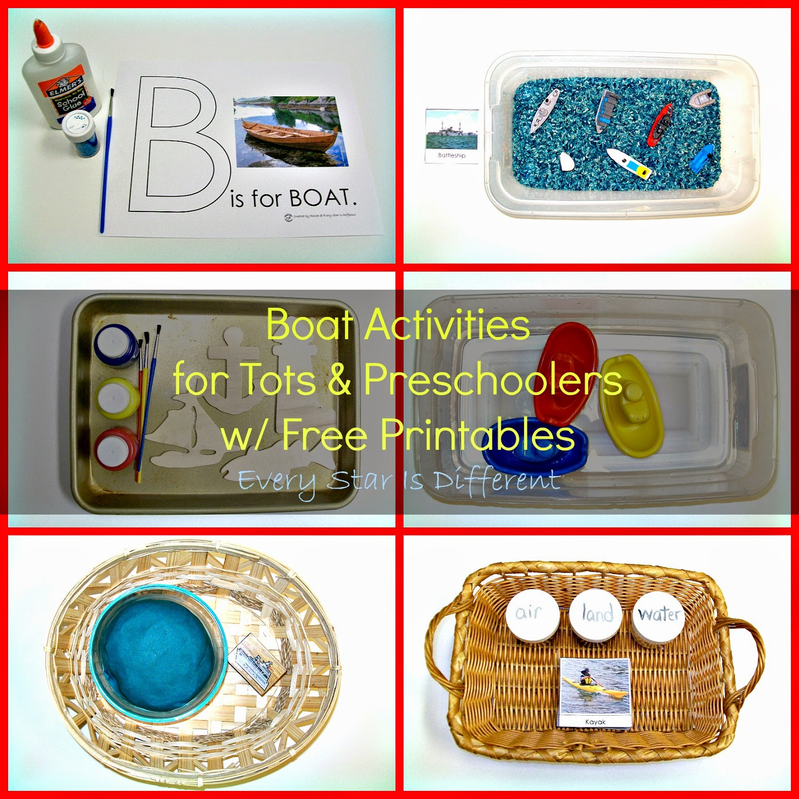 Boat Activities for Tots & Preschoolers