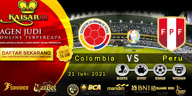 Prediksi Bola Terpercaya Laga Copa America Kolombia VS Peru 21 Juni 2021