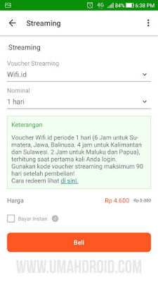 Daftar Harga Voucher Wifi ID Murah