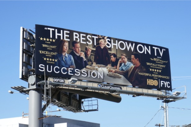 Succession season 2 FYC billboard