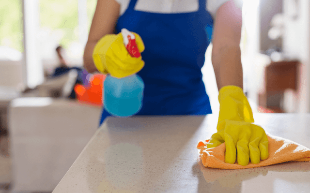 limpeza da lavanderia
