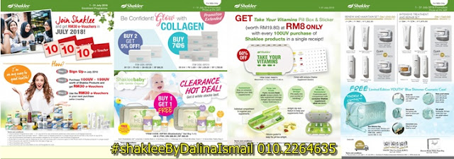 Promosi SHAKLEE JUL 2018.  Collagen Powder, Youth Set, Baby Set, Gift Set and Membership