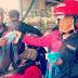 Andil Perangi Covid - 19, 'Adi Banana' Bagikan Masker Gratis Di Pasar