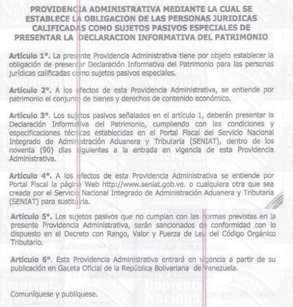 ATENCIÓN! CONTRIBUYENTE ESPECIAL QUEDAN POCOS DÍAS PARA LA DECLARACIÓN JURADA DE PATRIMONIO