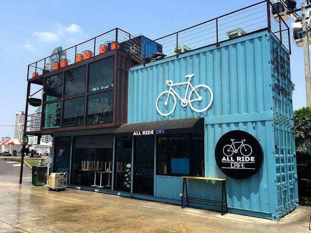 All Ride Cafe - велокафе из контейнера, containerbar