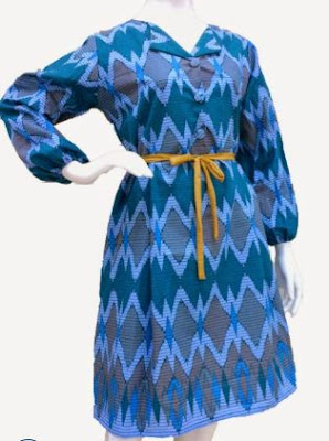 baju batik kerja wanita modern