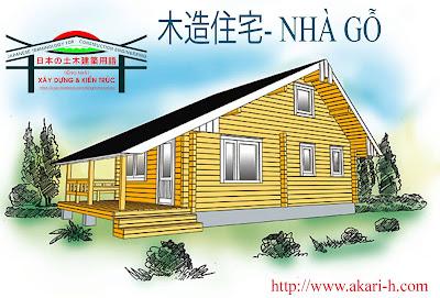 【木造住宅用語集】Từ vựng tiếng Nhật Kết cấu gỗ, Nhà gỗ 1 (Wooden house Term)