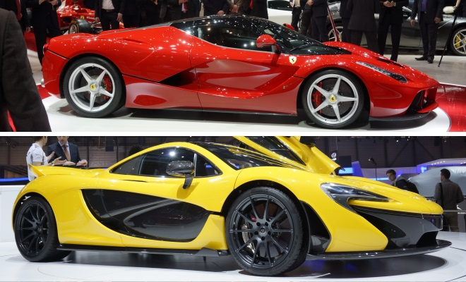 McLaren P1 and Ferrari LaFerrari at Geneva 2013