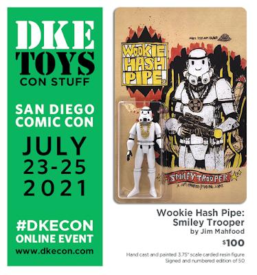 San Diego Comic-Con 2021 Exclusive Wookie Hash Pipe Smiley Trooper Resin Figure by Jim Mahfood x DKE Toys