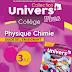 3APIC : GUIDE DU PROFESSEUR « UNIVERS PLUS DE PHYSIQUE CHIMIE »