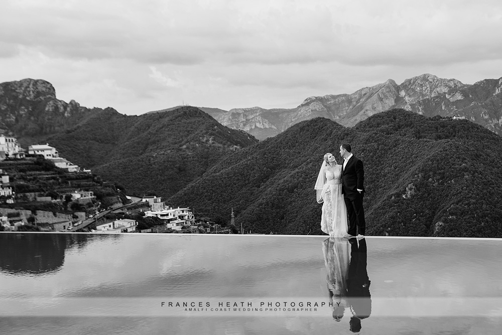 Bride and groom portrait hotel Caruso