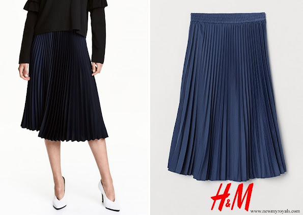 Crown Princess Victoria wore HM Pleated skirt
