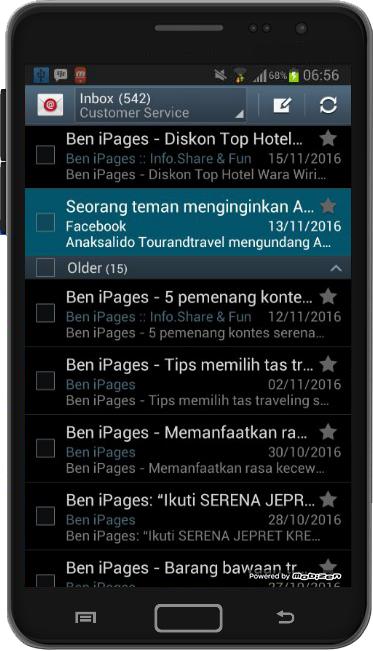 auto setup email di android berhasil