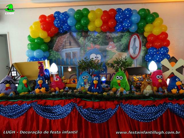 Decoração Galinha Pintadinha para a mesa do parabéns