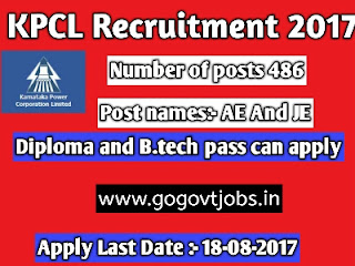 govt jobs for B.tech and Diploma