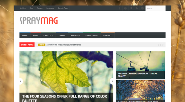 Spraymag Blogger Template