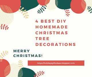 DIY Homemade Christmas Tree Decorations